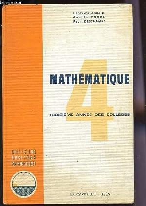 MATHEMATIQUES - CLASSE DE 4è - TROISIEME ANNEE DES COLLEGES / COLLECTION HORIZONS ...