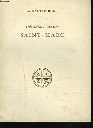 L'EVANGILE SELON SAINT MARC.: R.P. J. HUBY,