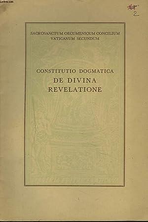 CONSTITUTIO DOGMATICA DE DIVINA REVELATIONE: COLLECTIF