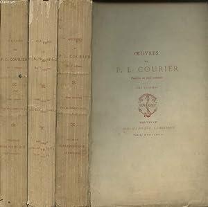 OEUVRES DE P.L. COURIER EN TROIS VOLUMES: P.L. COURIER