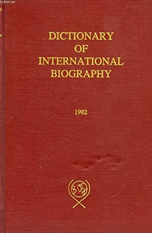 DICTIONARY OF INTERNATIONAL BIOGRAPHY, INTERNATIONAL WHO'S WHO IN COMMUNITY SERVICE, THE ...