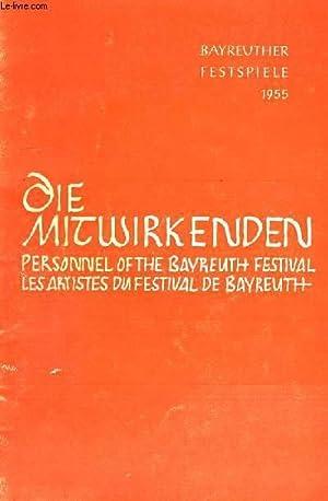 DIE MITWIRKENDEN DER BAYREUTHER FESTSPIELE 1955, PERSONNEL OF THE BAYREUTH FESTIVAL: COLLECTIF