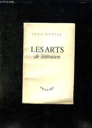 LES ARTS DE LITTERATURE.: HYTIER JEAN.