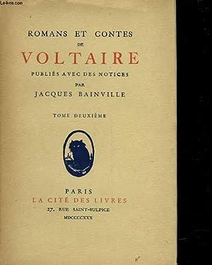 ROMANS ET CONTES DE VOLTAIRE - TOME: VOLTAIRE