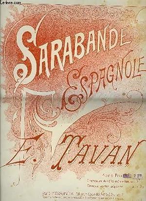 SARABANDE ESPAGNOLE: TAVAN E.