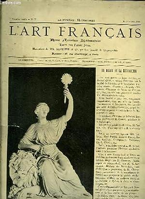 L'Art Français. N°73 - 2ème année : JAVEL Firmin