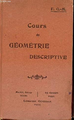 COURS DE GEOMETRIE DESCRIPTIVE / CLASSES DE PREMIERE C ET D ET CLASSES DE MATHEMATIQUES.: G6M. F