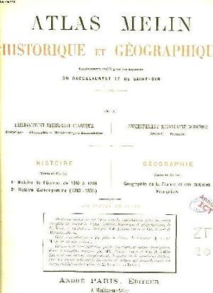 ATLAS MELLIN HISTORIQUE ET GEOGRAPHIQUE.: COLLECTIF