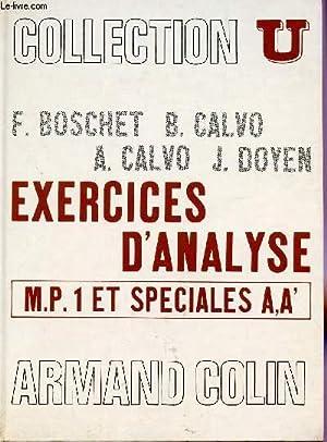EXERCICES D'ANALYSE / MP1 ET SPECIALES A: CALVO B ET