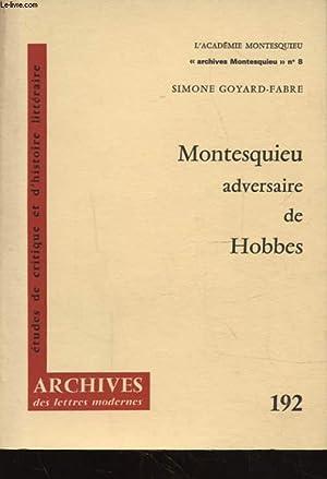 MONTESQUIEU ADVERSAIRE DE HOBBES: SIMONE GOYARD FABRE