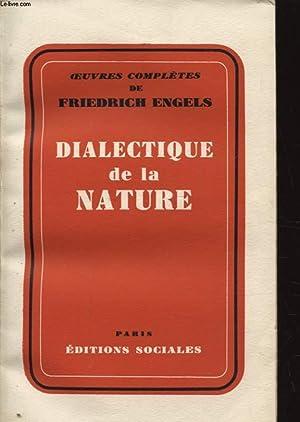 DIALECTIQUE DE LA NATURE: FRIEDRICH ENGELS