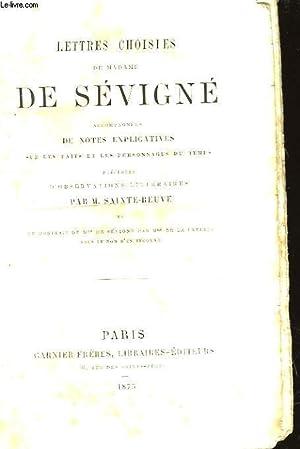 LETTRES CHOISIES DE MADAME DE SEVIGNE: MADAME DE SEVIGNE