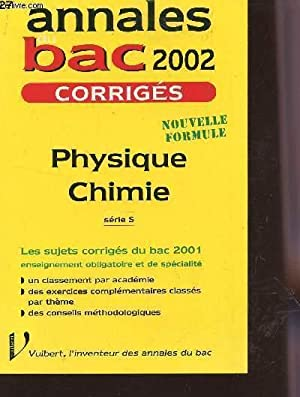 ANNALES 2002 / PHYSIQUE CHIMIE - N°27: LESPINASSE E. /