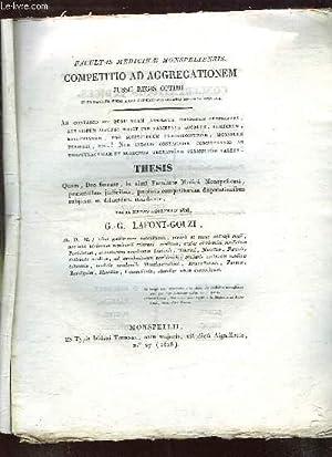 COMPETITION AD AGGREGATIONEM JUSSU REGIS OPTIMI.: FACULTAS MEDICINE MONSPELIENSIS.