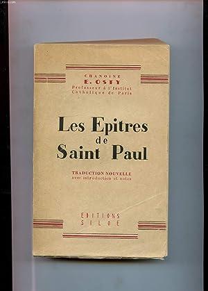 LES EPITRES DE SAINT PAUL: CHANOINE EM. OSTY