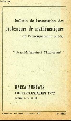 BULLETIN DE L'ASSOCIATION DES PROFESSEURS DE MATHEMATIQUES DEL'ENSEIGNEMENT PUBLIC /...