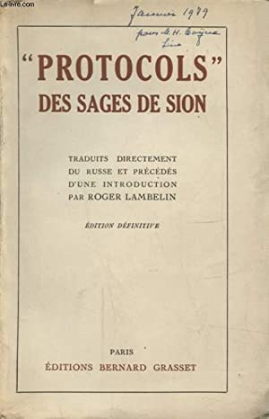 PROTOCOLS DES SAGES DE SION: COLLECTIF