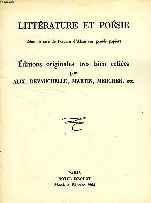 LITTERATURE ET POESIE, EDITIONS ORIGINALES (CATALOGUE): COLLECTIF