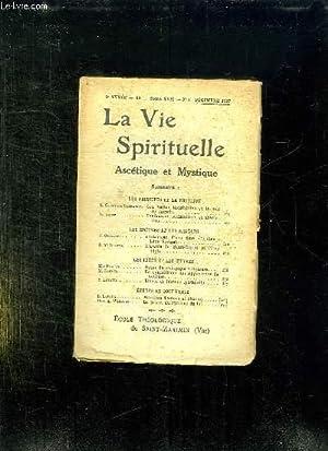 LA VIE SPIRITUELLE 9em ANNEE N° 99. TOME XVII N° 3. DECEMBRE 1927. LES VERTUS THEOLOGALES ...