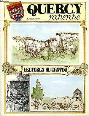 QUERCY RECHERCHE, H.S., LECTURES AU CANTOU: COLLECTIF