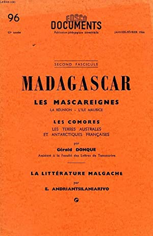 EDSCO DOCUMENTS, N° 96, JAN.-FEV. 1966, MADAGASCAR, LES MASCAREIGNES, LES COMORES, L'...