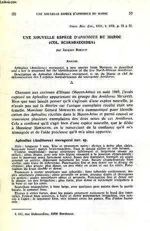 UNE NOUVELLE ESPECE D'APHODIUS DU MAROC (COL.: BARAUD JACQUES