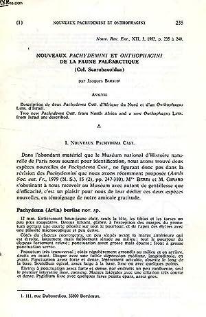 NOUVEAUX PACHYDEMINI ET ONTHOPHAGINI DE LA FAUNE: BARAUD JACQUES