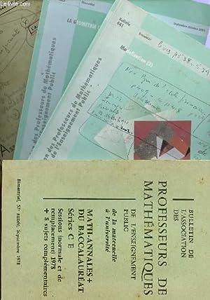 LOT DE 60 BULLETINS DE L'APMEP - DDE LA 42è ANNEE N°229 (JANVIER-FEVRIER 1963) AU ...