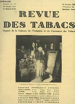 REVUE DES TABACS - N°41 - 15 OCTOBRE 1928 / LA REASSURANCE - LES SUPERSTITIONS DES FUMEURS...