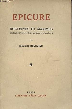 DOCTRINES ET MAXIMES: EPICURE