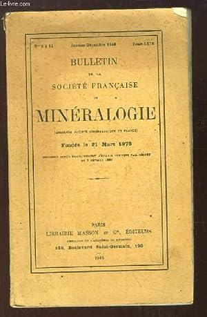 Bulletin de la Société Française de Minéralogie. N°1 à 12, ...