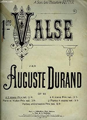 1ERE VALSE: DURAND Auguste