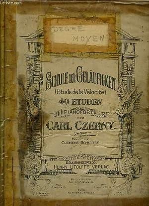 SCHULE DER GELAUFIGKEIT (ETUDE DE LA VELOCITE): CZERNY Carl