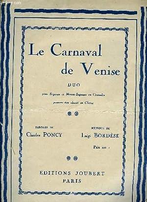 LE CARNAVAL DE VENISE: BORDESE Luigi / PONCY Charles