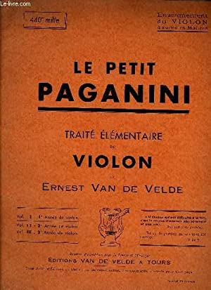LE PETIT PAGAGNINI VOL. I: VAN DE VELDE Ernest