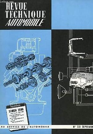 REVUE TECHNIQUE AUTOMOBILE - N°221: COLLECTIF