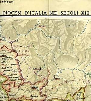 LE DIOCESI D'ITALIA NEI SECOLI XIII-XIV, LATIUM, SCALA 1/250,000: BATTELLI GIULIO