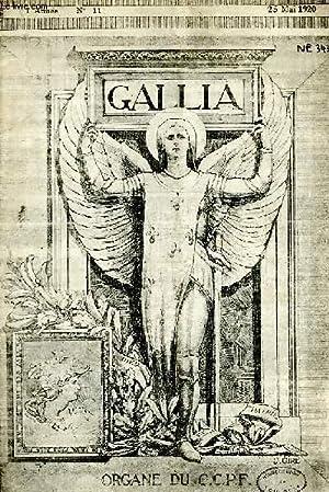 GALLIA, ANNEE 1, N° 11, 25 MAI 1920: COLLECTIF