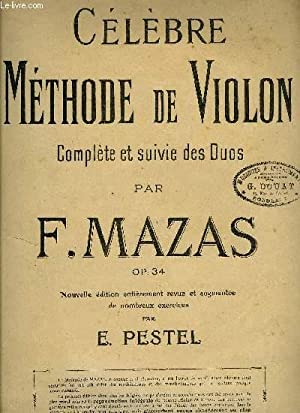 CELEBRE METHODE DE VIOLON: MAZAS F.
