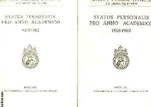 PONTIFICIA STUDIORUM UNIVERSITAS A S. THOMA AQ. IN URBE, STATUS PERSONALIS PRO ANNO ACADEMICO 1966-...
