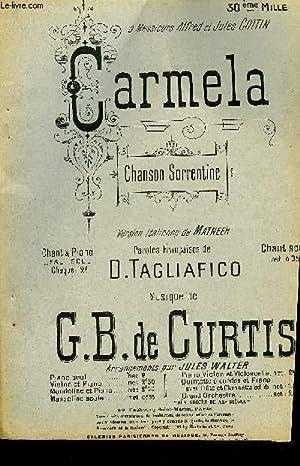 CARMELA: DE CURTIS G.B. / TAGLIAFICO D.