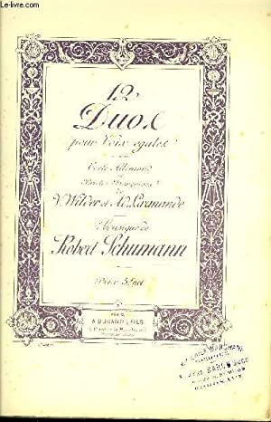 12 DUOS POUR VOIX EGALES: SCHUMANN Robert / WILDER V. / LARMANDE A.