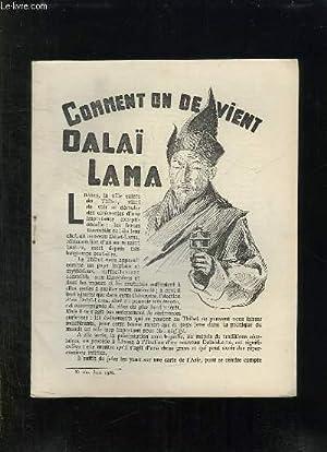 N° 160. COMMENT ON DEVIENT DALAI LAMA. JUIN 1936.: FRELON L.