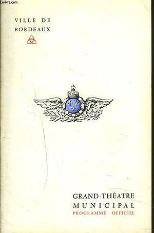 PROGRAMME OFFICIEL SAISON 1968-1969. LES CLOCHES DE CORNEVILLE. OPERA-COMIQUE EN 3 ACTES ET 4 ...