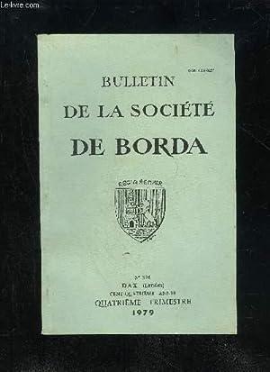 BULLETIN DE LA SOCIETE DE BORDA N°: COLLECTIF