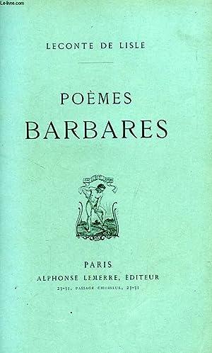 POEMES BARBARES: LECONTE DE LISLE