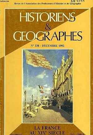 HISTORIENS ET GEOGRAPHES, N° 338, DEC. 1992: COLLECTIF