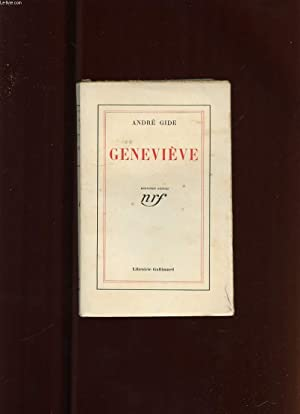 GENEVIEVE OU LA CONFIDENCE INACHEVEE: GIDE ANDRE