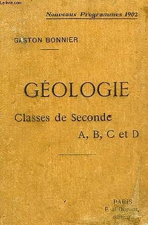 CONFERENCES DE GEOLOGIE, CLASSES DE 2de A, B, C, D: BONNIER GASTON
