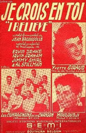 JE CROIS EN TOI (I BELIEVE): DRAKE E. / GRAHAM I. / SHIRL J. / BROUSSOLE Jean